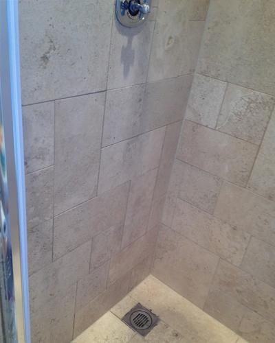 Travertine Shower After