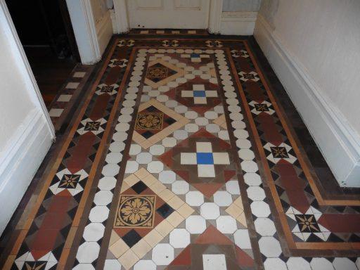 Victorian tiled floor Wrexham